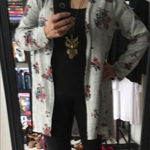 Lily White XL Long Cardigan